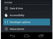 Como activar opciones de desarrollador en el Samsung Galaxy 4